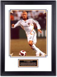 David Beckham Los Angeles Galaxy Framed 16'' x 20'' Photograph with Descriptive Plate