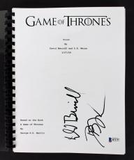 David Benioff & D.B. Weiss Signed Game Of Thrones TV Pilot Script BAS #B71757