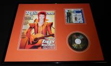 David Bowie 16x20 Framed CD & 2012 Rolling Stone Cover Display