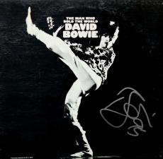"""David Bowie Autographed """"Man Who Sold the World"""" Album signed. PSA COA. Graded 9"""