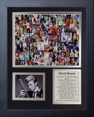 David Bowie Collage Album List Music Hall Of Fame 1996 8x10 Photo