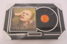 "David Bowie ""Hunky Dory"" signed autographed framed matted record album JSA COA"