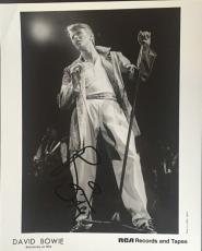 David Bowie Signed 8X10 Original Rca Records Press Photo 1979 Auto Ins Jsa Coa