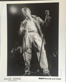 David Bowie Signed 8X10 Original Rca Records Press Photo 1979 Auto Ins Jsa Coa