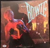 David Bowie Signed 'lets Dance' Album Cover Autograph Psa/dna Coa
