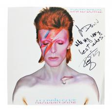 """David Bowie """"With My Very Best Wishes"""" Signed Album Cover W/ Vinyl BAS #A09505"""