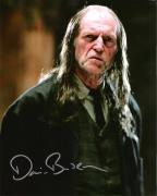 "DAVID BRADLEY Best Known for Playing ARGUS FILCH in the ""HARRY POTTER"" Films - Signed 8x10 Color Photo"