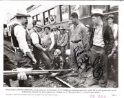 "DAVID CARRADINE as WOODY GUTHRIE in ""BOUND for GLORY"" Passed Away 2009 Signed 10x8 B/W Photo"