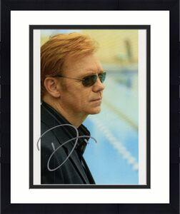 DAVID CARUSO HAND SIGNED 8x10 COLOR PHOTO+COA       AWESOME POSE      CSI:MIAMI