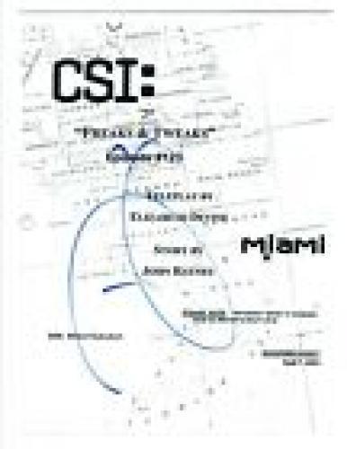 David Caruso Signed Autographed CSI Miami Freaks & Tweaks Episode Script COA AB