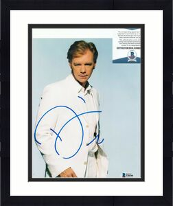 DAVID CARUSO signed (CSI: MIAMI) Horatio Caine 8X10 photo BECKETT BAS T56546
