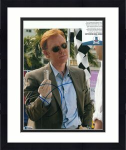 DAVID CARUSO signed (CSI: MIAMI) Horatio Caine 8X10 photo BECKETT BAS T56548