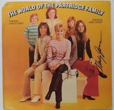"David Cassidy & Shirley Jones "" The Partridge Family "" Signed Album Cover W/coa"