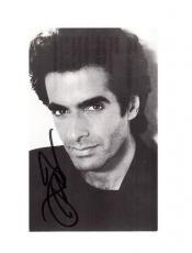 David Copperfield -signed photo-post card - 10 - coa