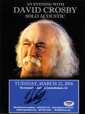 David Crosby Autographed Signed 8x11 Promo Photo AFTAL UACC RD COA PSA