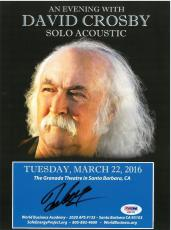 David Crosby Signed Authentic Autographed 8x10 Promo Photo PSA/DNA #AB87453