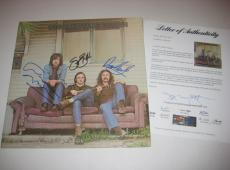 DAVID CROSBY, STEPHEN STILLS & GRAHAM NASH Signed CSR Album w/ PSA LOA