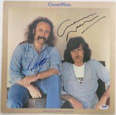 David Crosby/Graham Nash Signed Authentic Autographed Album Cover PSA/DNA#Y45854