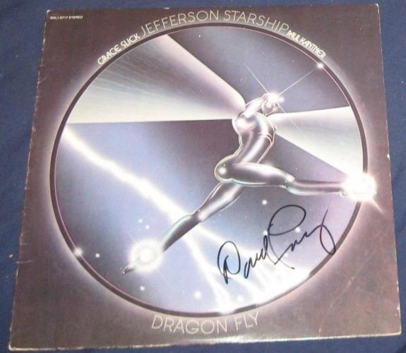 David Freiberg Jefferson Starship Rock Band Signed Dragon Fly Album Autographed