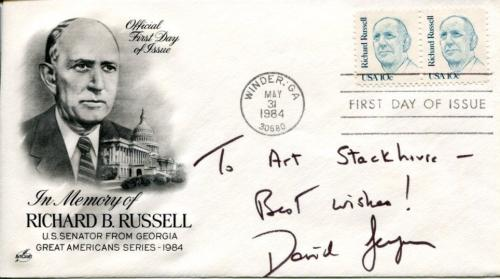 David Gergen Richard Nixon Speechwriter White House Staff Secretary Signed FDC