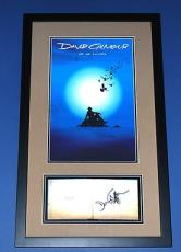 David Gilmour Pink Floyd Signed AUTOGRAPH PSA/DNA On an Island FRAMED