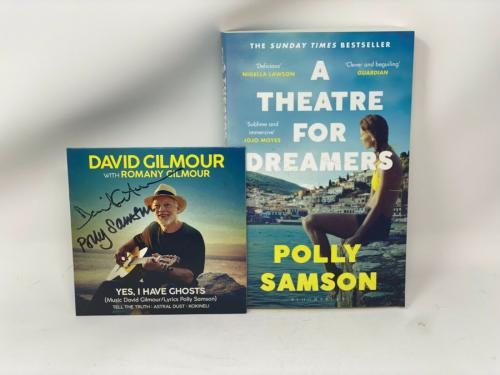 """David Gilmour Polly Samson Signed """"yes I Have Ghosts"""" Cd + Book Autograph Auto"""
