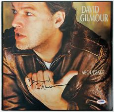 """David Gilmour Signed """"aboutface"""" Vinyl Album Sleeve! Pink Floyd Psa/dna V03296"""