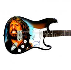 David Grohl Dave Foo Fighters Nirvana Autographed Fender Airbrush Guitar & Video
