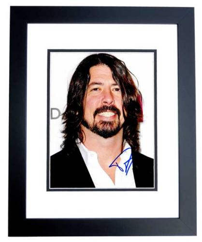 David Grohl - Dave Grohl Signed - Autographed Foo Fighters 8x10 inch Photo - Formerly with Nirvana - BLACK CUSTOM FRAME - Guaranteed to pass PSA or JSA