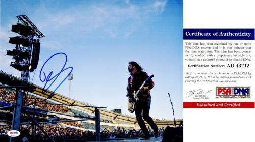 David Grohl Signed - Autographed Foo Fighters 11x14 inch Photo - PSA/DNA Certificate of Authenticity (COA) - Formerly with Nirvana Dave Grohl