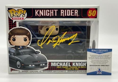 David Hasselhoff Autograph Signed Knight Rider Funko Pop Beckett Bas Coa 2