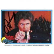 David Hasselhoff Autographed 1982 Universal Card