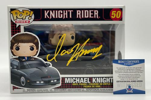 "David Hasselhoff ""knight Rider"" Autograph Signed 'michael' Funko Pop Beckett 3"