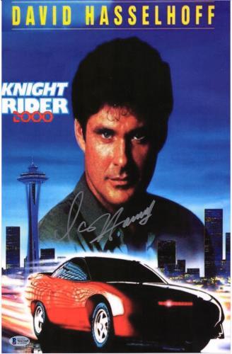 "David Hasselhoff Knight Rider Autographed 11"" x 14"" Movie Poster"