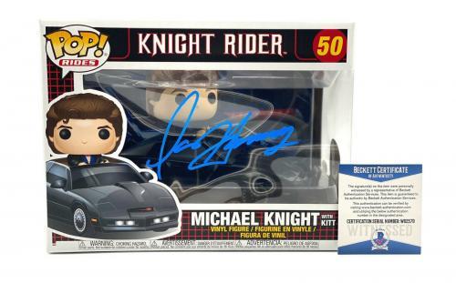 David Hasselhoff Michael Knight Autograph Signed Knight Rider Funko Pop Beckett