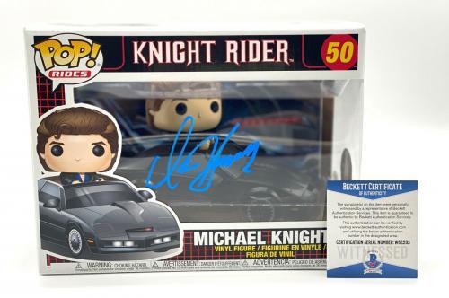 David Hasselhoff Michael Knight Signed Knight Rider Funko Pop Auto Beckett 10