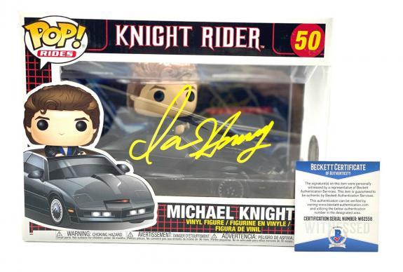 David Hasselhoff Michael Knight Signed Knight Rider Funko Pop Auto Beckett Coa 6