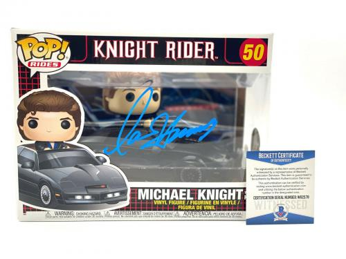David Hasselhoff Michael Knight Signed Knight Rider Funko Pop Auto Beckett Coa 7