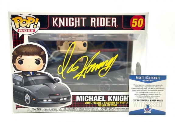 David Hasselhoff Michael Knight Signed Knight Rider Funko Pop Auto Beckett Coa 9