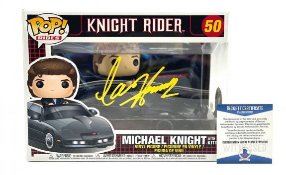 David Hasselhoff Signed Autograph Funko Pop - Michael Knight Rider Beckett Bas 1