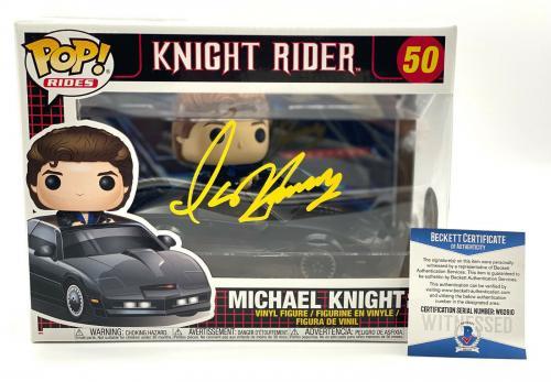 David Hasselhoff Signed Autograph Funko Pop - Michael Knight Rider Beckett Bas 2