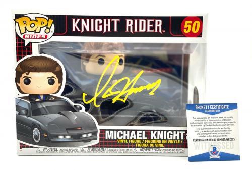David Hasselhoff Signed Autograph Funko Pop - Michael Knight Rider Beckett Bas 3