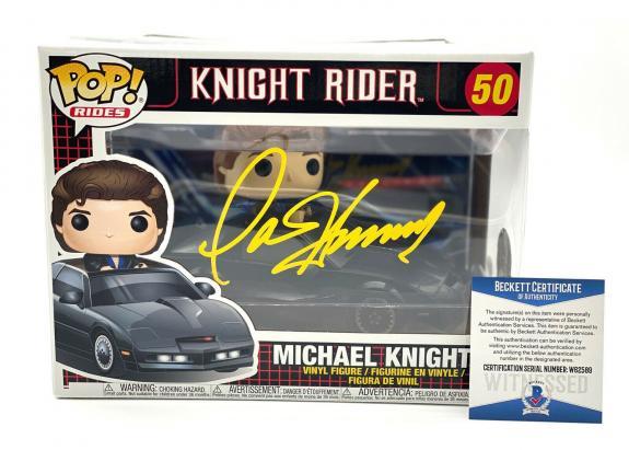 "David Hasselhoff Signed Autograph ""knight Rider"" - Funko Pop Beckett Bas Coa 1"