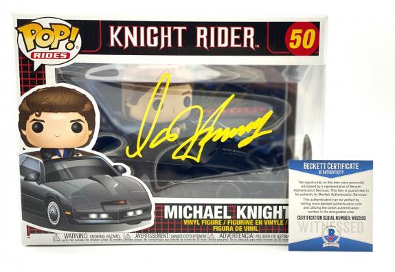 "David Hasselhoff Signed Autograph ""knight Rider"" Funko Pop Beckett Bas Coa"