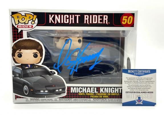 "David Hasselhoff Signed Autograph ""knight Rider"" - Funko Pop Beckett Bas Coa 2"