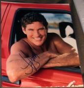David Hasselhoff Signed Baywatch Stud Jeep Promo Photo