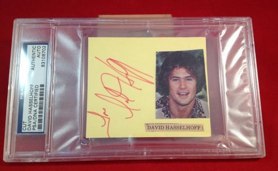 David Hasselhoff signed Cut  Slabbed PSA/DNA #83106702