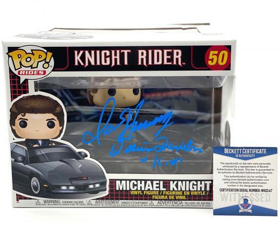 David Hasselhoff William Daniels Signed Knight Rider Funko Pop Auto Beckett