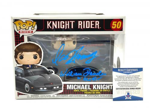 David Hasselhoff William Daniels Signed Knight Rider Funko Pop Auto Beckett 2