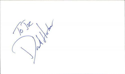 """DAVID HOBSON IT TAKES TWO Signed 3""""x5"""" Index Card"""